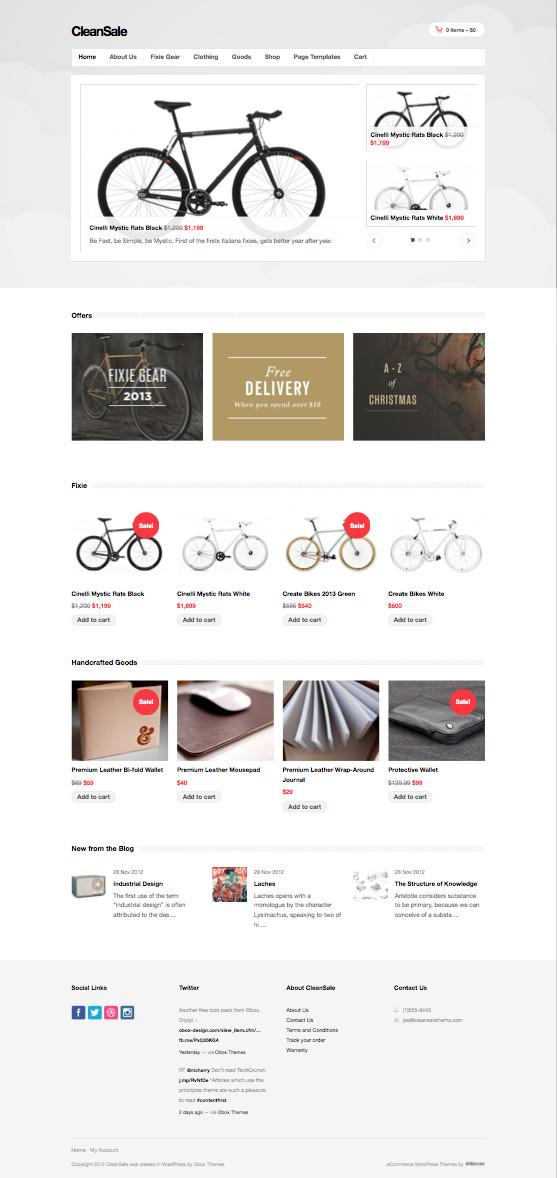 CleanSale Responsive WordPress eCommerce Theme