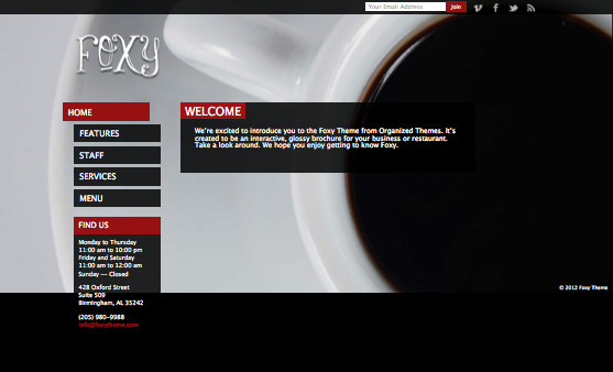 Foxy Responsive WordPress Restaurant Theme