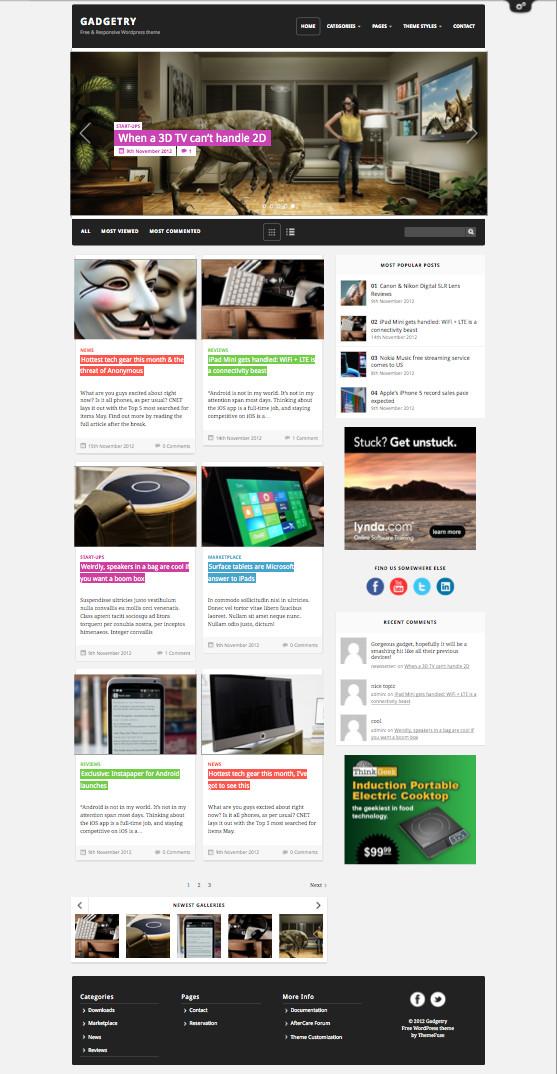 Gadgetry Free WordPress Theme