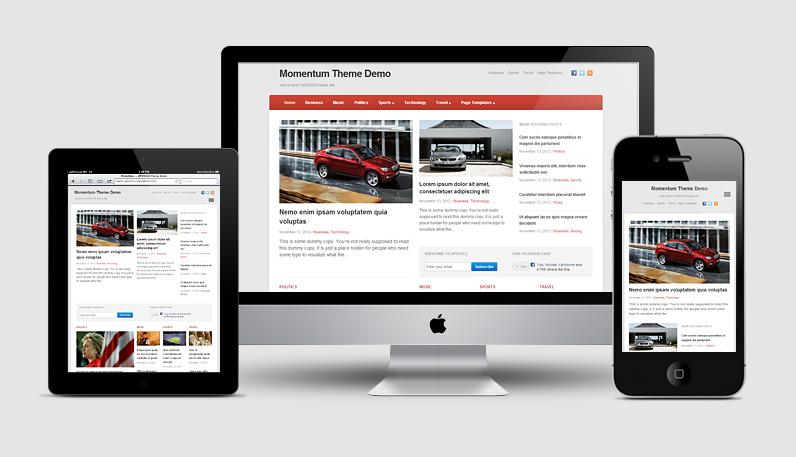Momentum WordPress Newspaper Theme