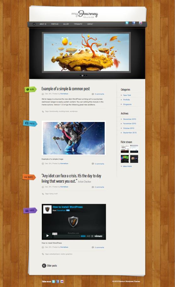 My Journey Responsive WordPress Theme