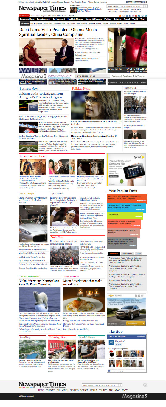 NewspaperTimes WordPress Newspaper Theme