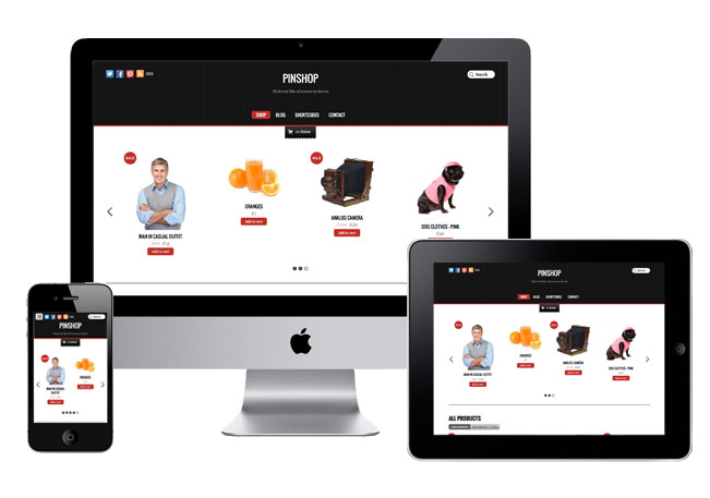 Pinshop Responsive WordPress Theme