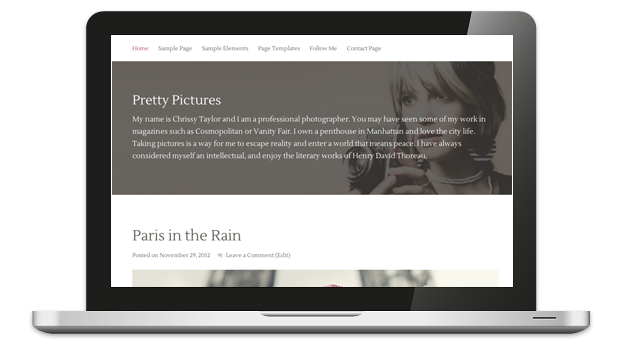 Pretty Pictures Responsive WordPress Theme