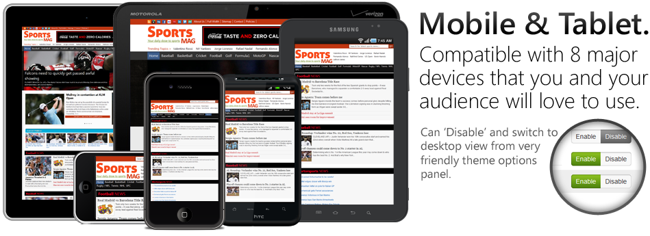 SportsMag Responsive WP Sport Theme