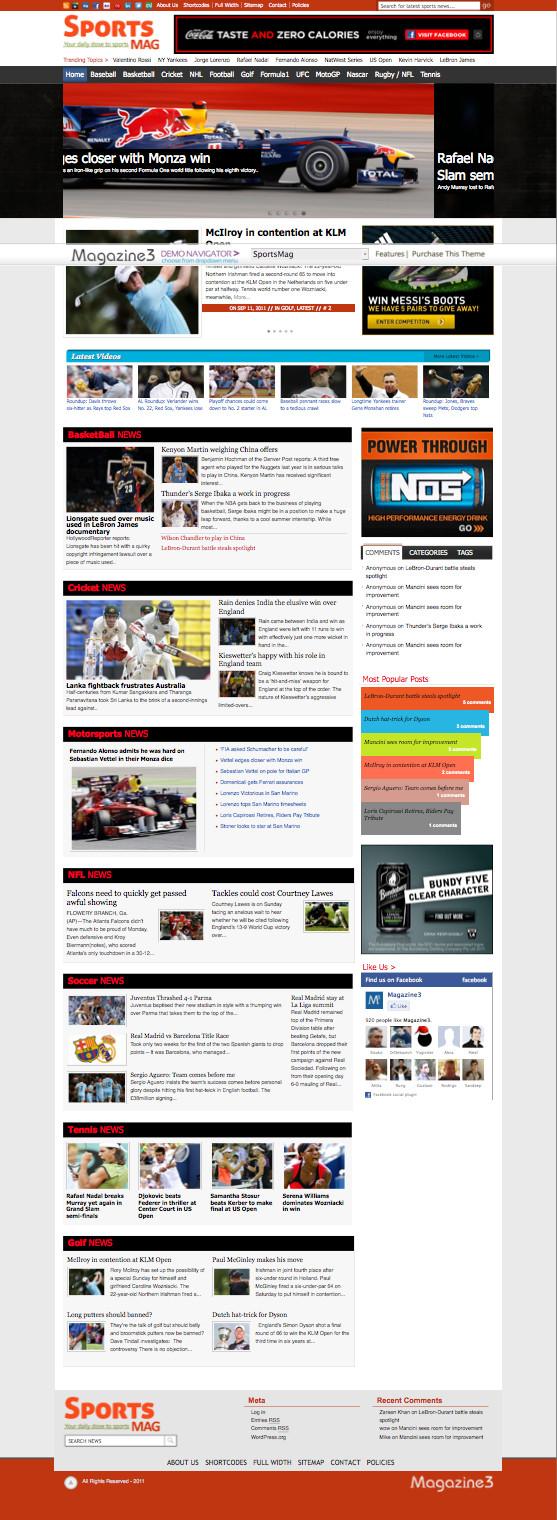 SportsMag WordPress Online Sport Magazine Theme