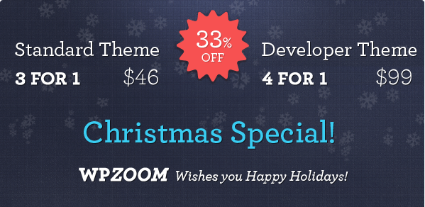 33% off on WPzoom Club & Discount Coupon Code for 2013