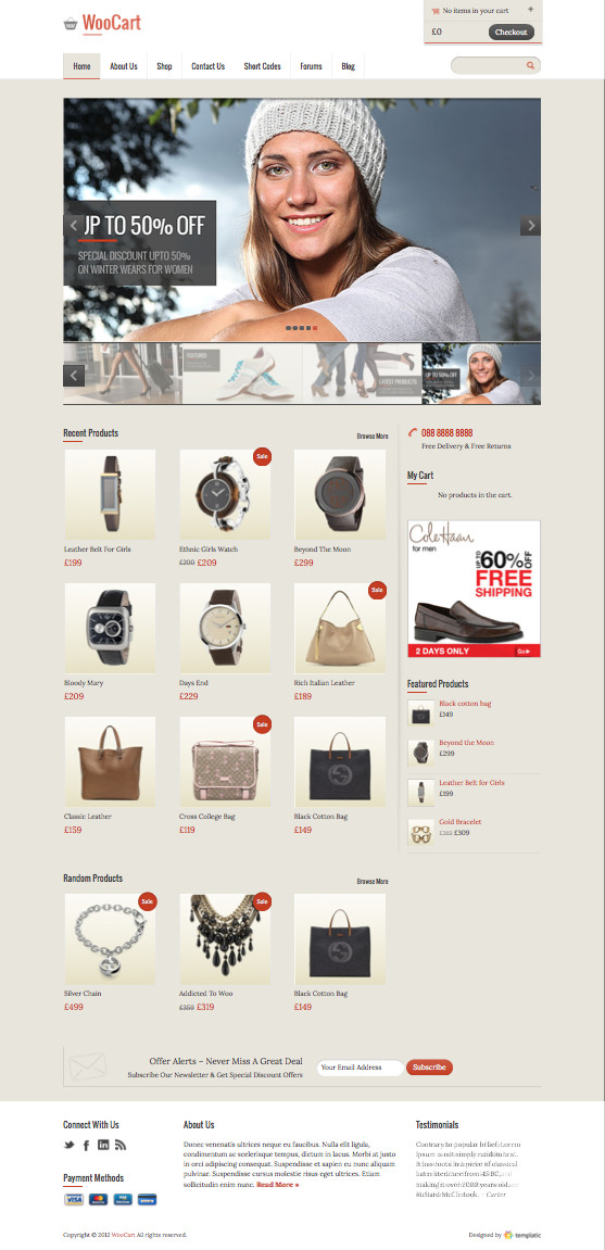 WooCart WordPress eCommerce Theme
