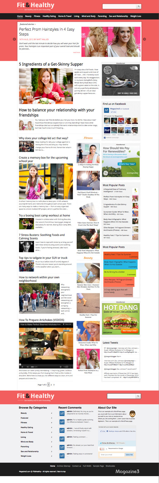 Fit & Healthy Magazine Blogging Theme