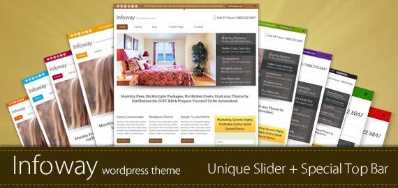 Infoway Responsive WordPress Business Theme in 5 Custom Designs