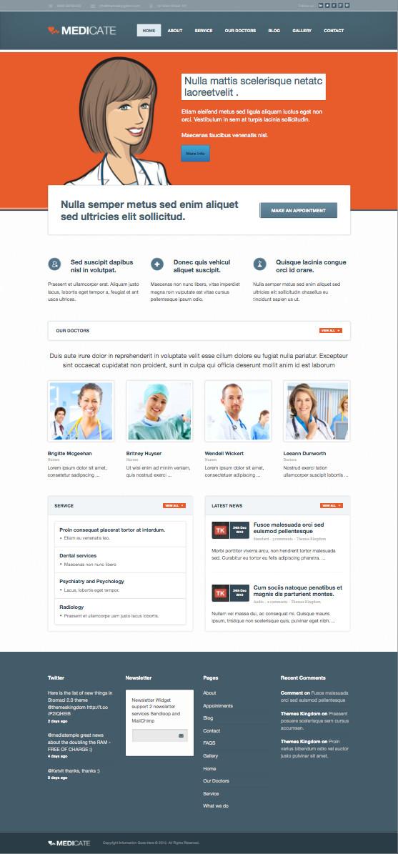 Medicate WordPress Hospital Theme