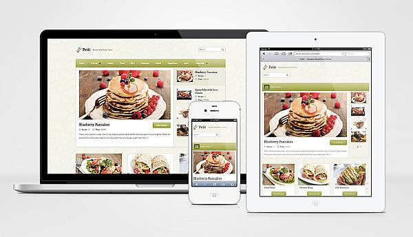 Petit Responsive WordPress Food Theme