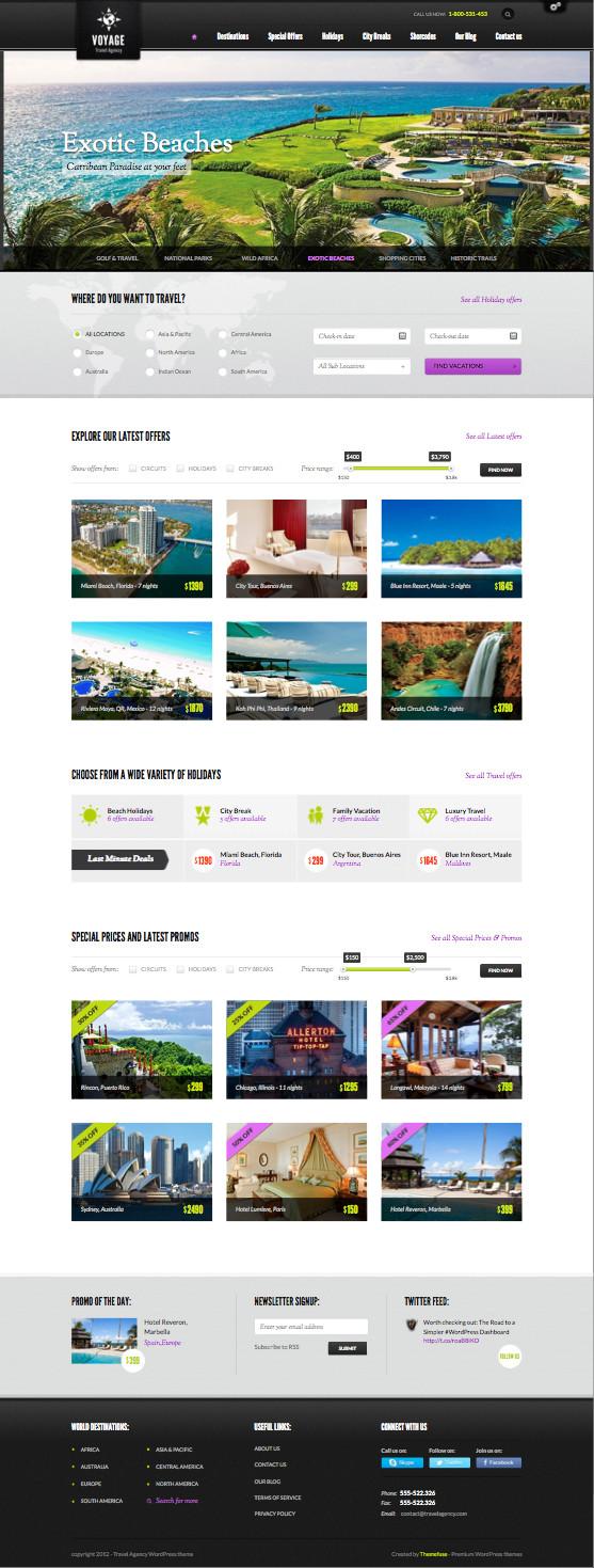 Voyage WordPress Travel Agency Theme