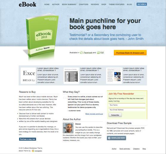 eBook V2 WordPress Sell Book Theme