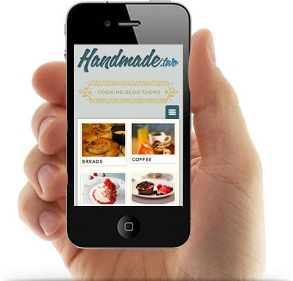 Handmade Two Responsive WordPress Blogging Theme