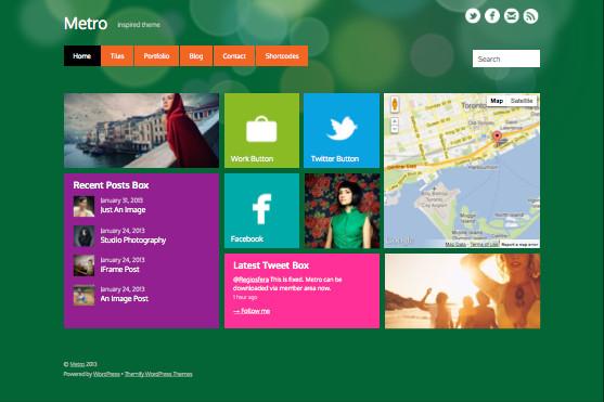 Metro Responsive WordPress Windows 8 Theme