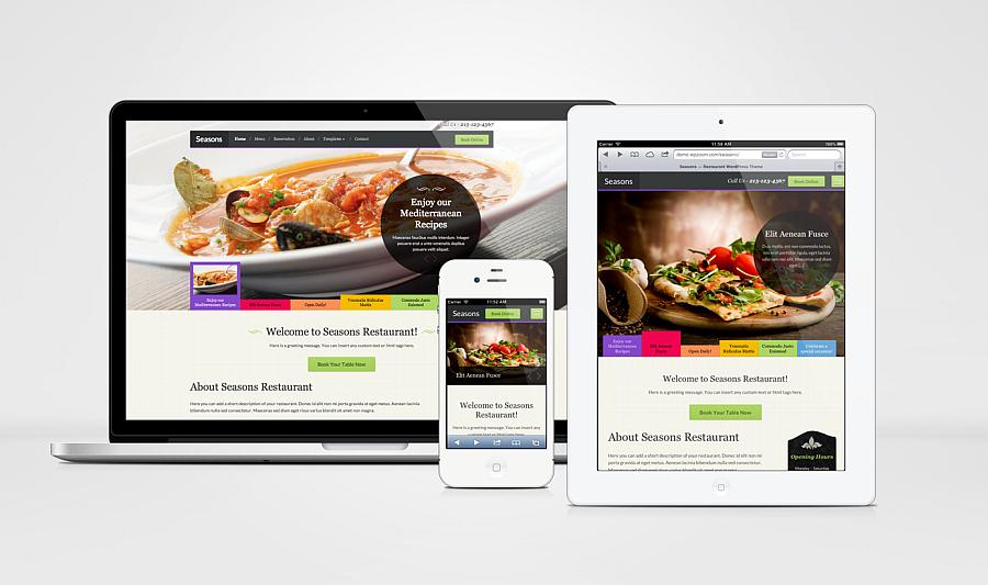Seasons Responsive WordPress Restaurants Theme