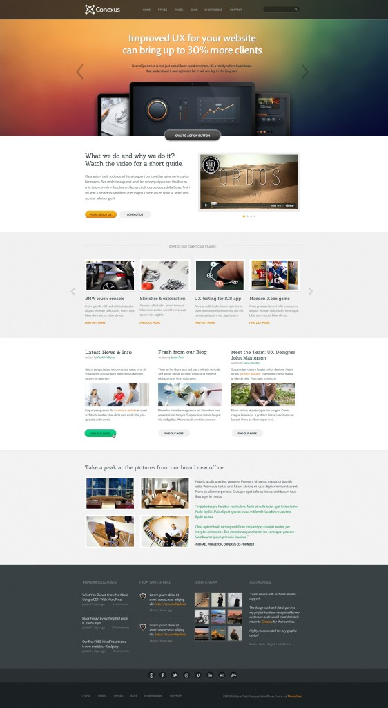 Conexus WordPress Business Industries Theme