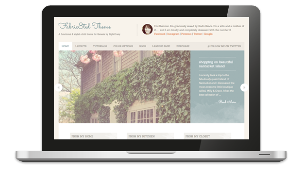Fabric8ted 1.0 Responsive WordPress Theme