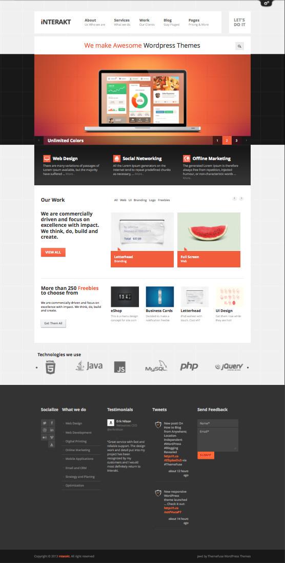 Interakt Responsive WordPress Corporate Agencies Theme