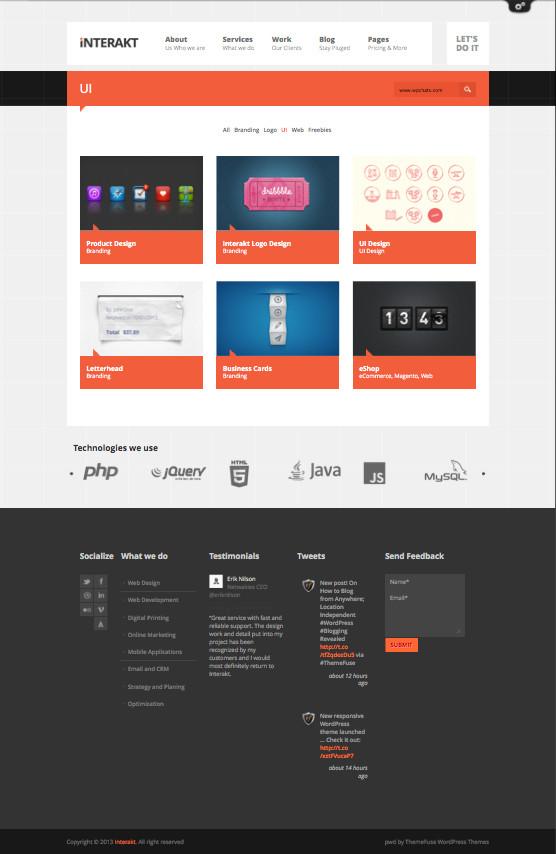 Interakt WordPress Metro UI Design Theme