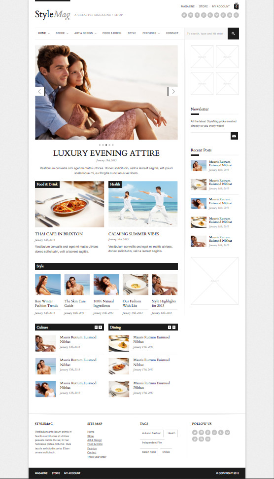 StyleMag Responsive WordPress Magazine Shop Theme