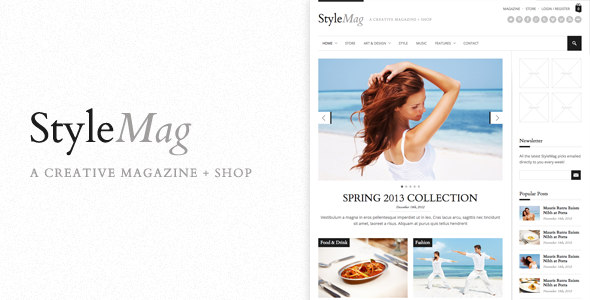 StyleMag WordPress Magazine Shop Theme