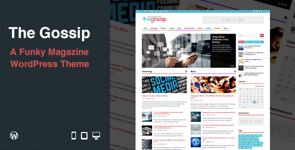 The Gossip Responsive WordPress Magazine Theme