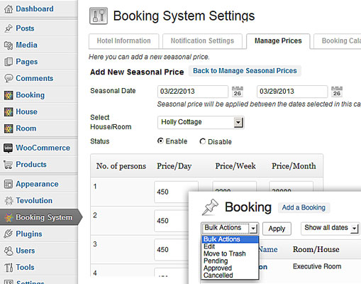 Vacation Rental 2 Booking System Theme
