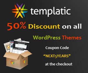 All 50% Discount Offer at Templatic WordPress Themes Club