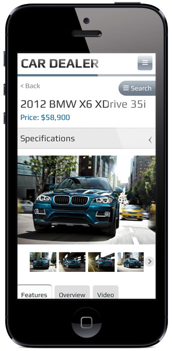 Car Dealer v2 WordPress Mobile Photo Gallery Theme