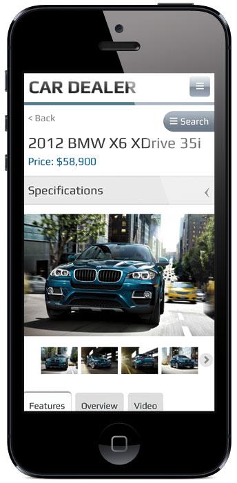 Car Dealer v2 WordPress Mobile Photo Gallery Theme