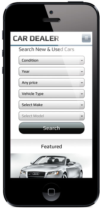 Car Dealer v2 WordPress Mobile Search Theme