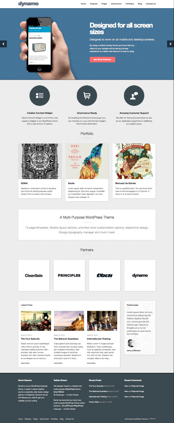 Dynamo WordPress Corporate Theme