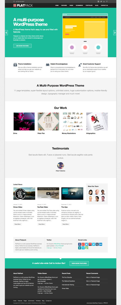 Flatpack WordPress Business Service Theme