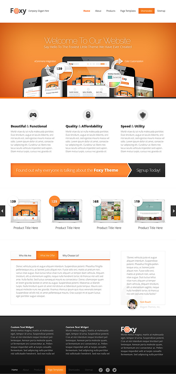 Foxy WordPress Business Theme