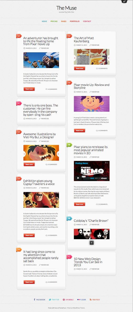 The Muse WordPress Content Blog Theme