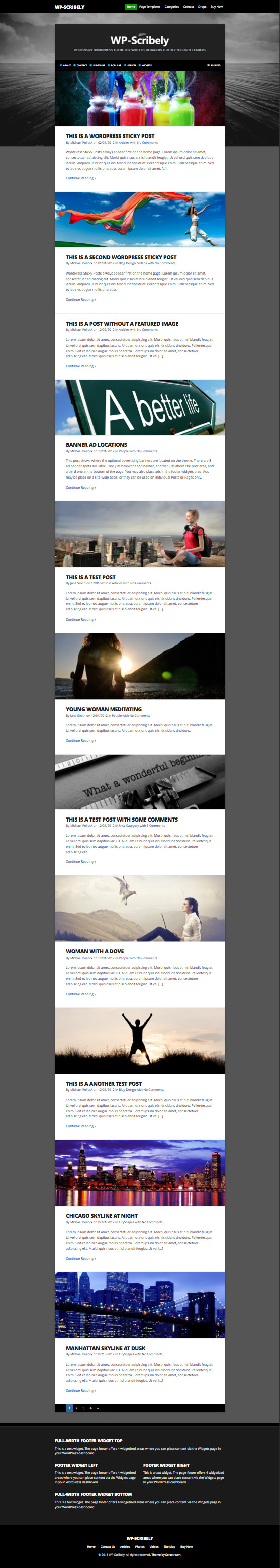 WP Scribely Blog Writers Theme