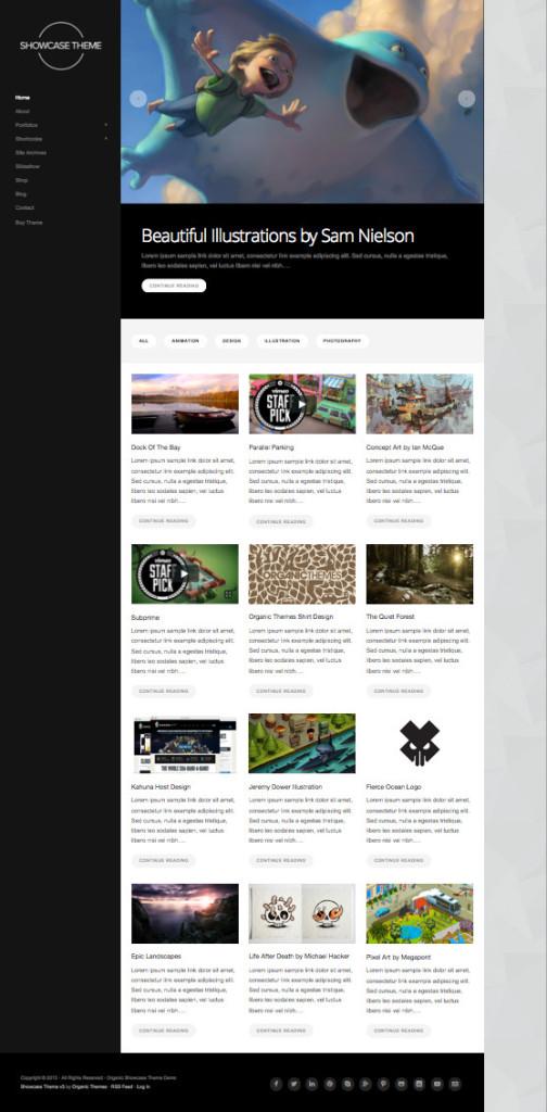 WordPress Showcase Illustrators Theme v3