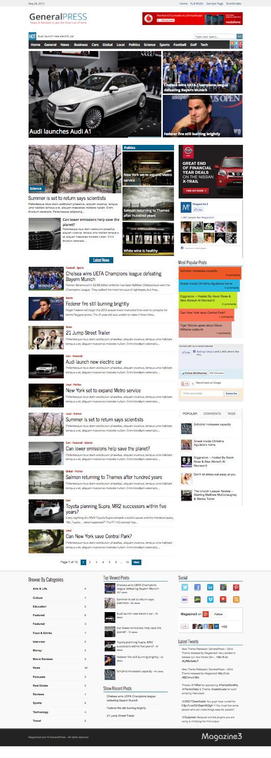 GeneralPress Responsive WordPress General Magazine Theme