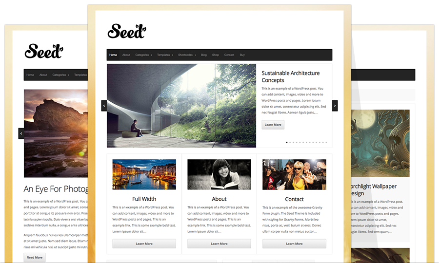 Seed WordPress Retina Optimized Theme