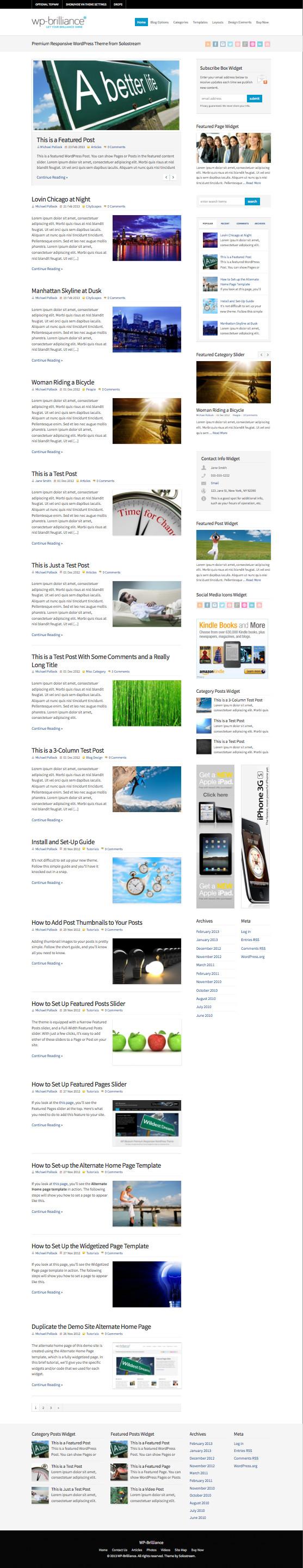 WP Brilliance Magazine Style Theme