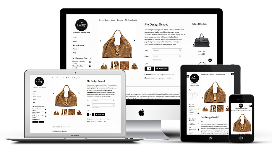 Cartsy Responsive WordPress e-Commerce Theme