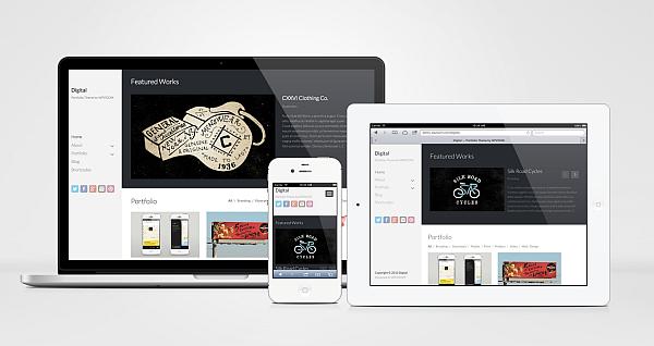 Digital Responsive WordPress Portfolio Design Theme