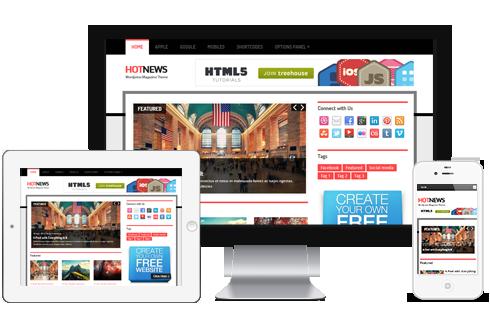HotNews Responsive WordPress Breaking News Theme