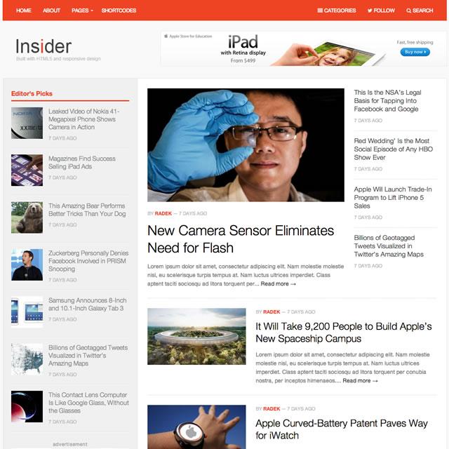 Insider Modern Magazine WordPress Theme