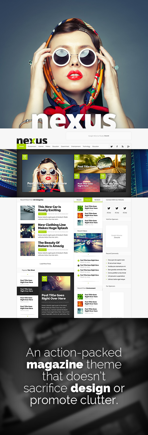 Nexus Responsive WordPress Magazine Theme