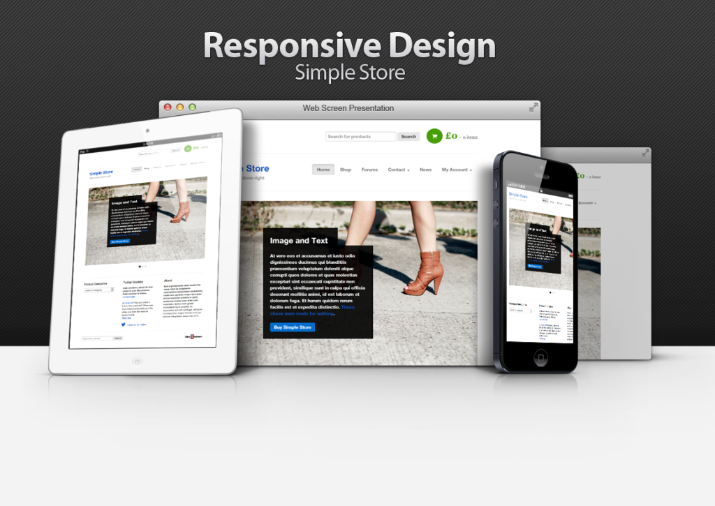 Simple Store Responsive WordPress WooCommerce Theme