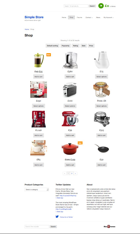 Simple Store WordPress Simple eCommerce Theme