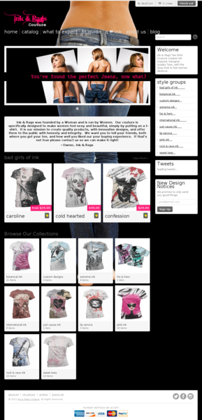 Ink & Rags Couture eCommerce Blog Theme
